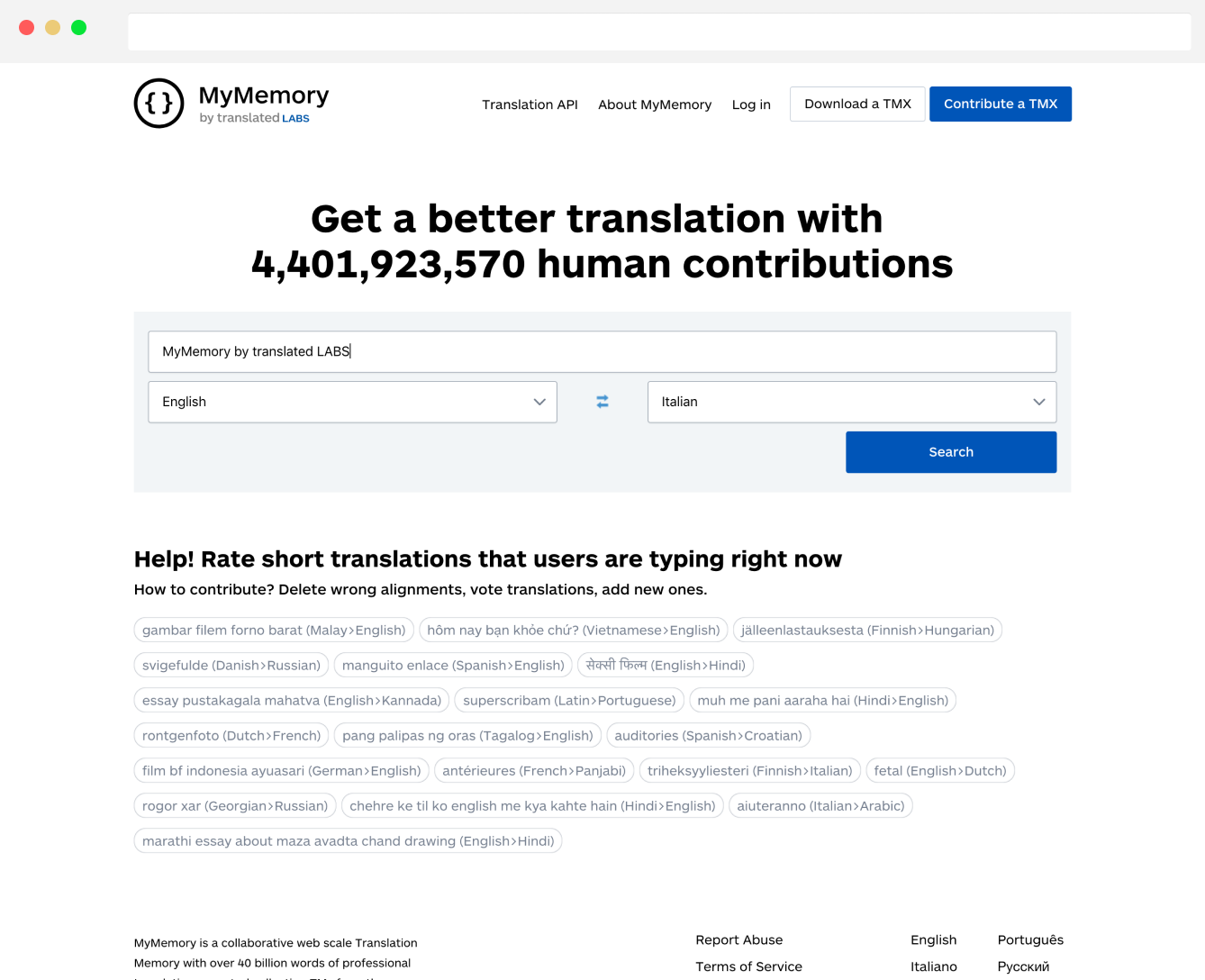 Language tools, by language enthusiasts - Translated Labs